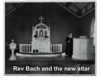 Rev Bach and the new altar