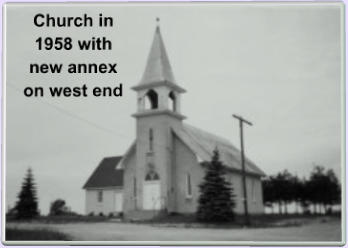 Church in 1958 with new annex on west end